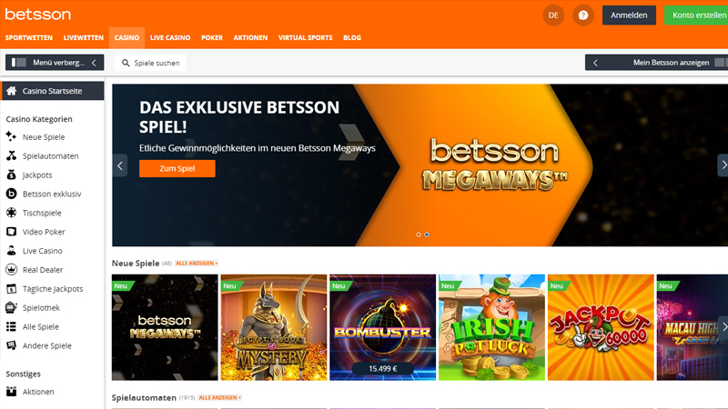 Betsson Casino test