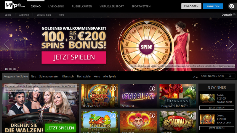 hopa.com Casino test