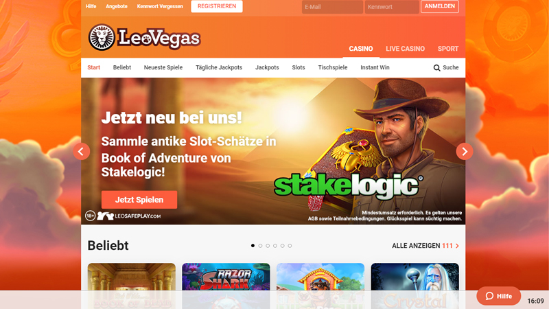 LeoVegas Casino test