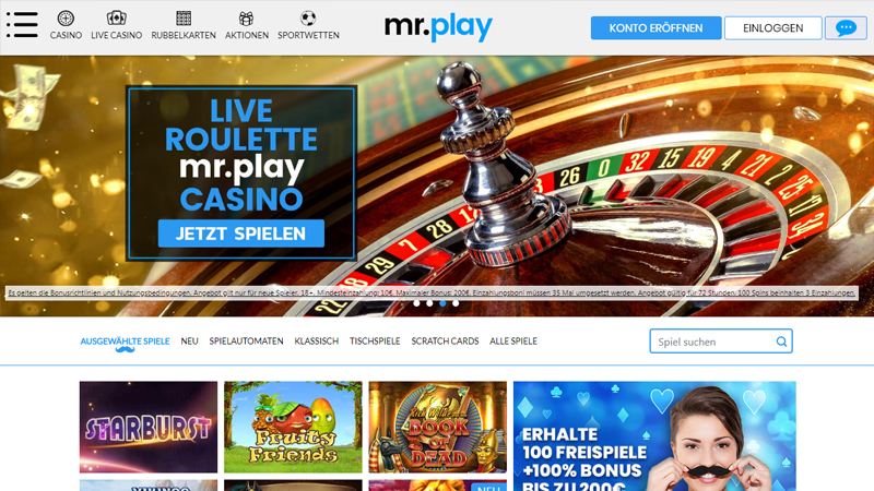 mr.play Casino Bonus